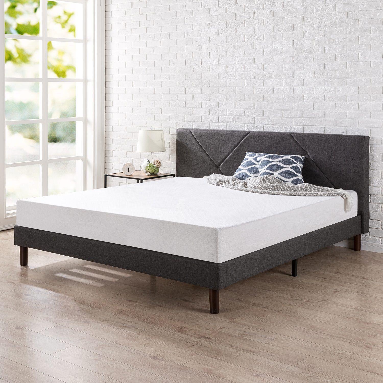 Zinus Upholstered Geometric Paneled Platform