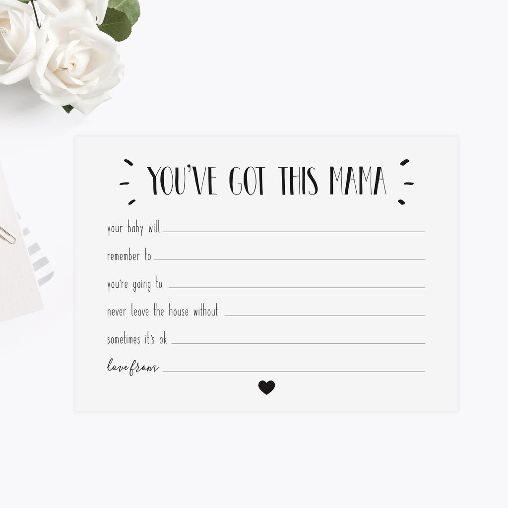 Baby Shower New Mum Advice Cards Baby Shower Pinterest Advice