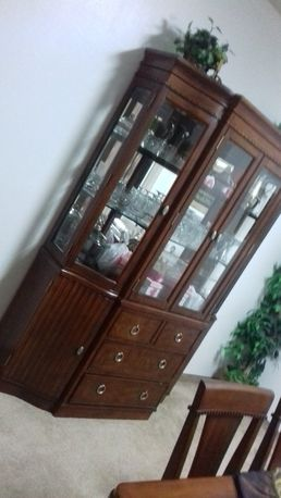 Jubail Furniture SAR 6499 High Quality Dining Table Set And Cabinet