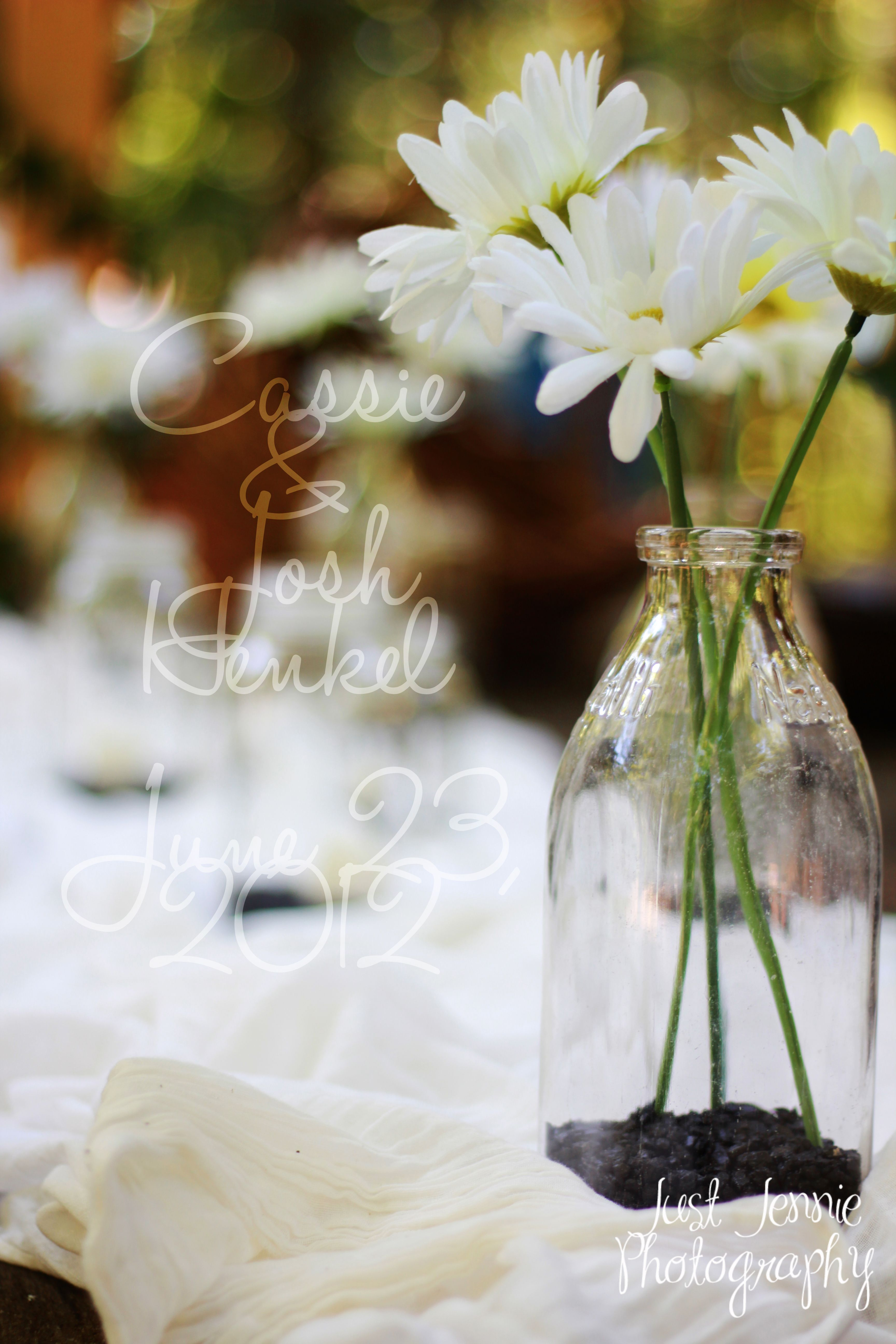 Photo from a Country themed Wedding I took. Love the table decor ...