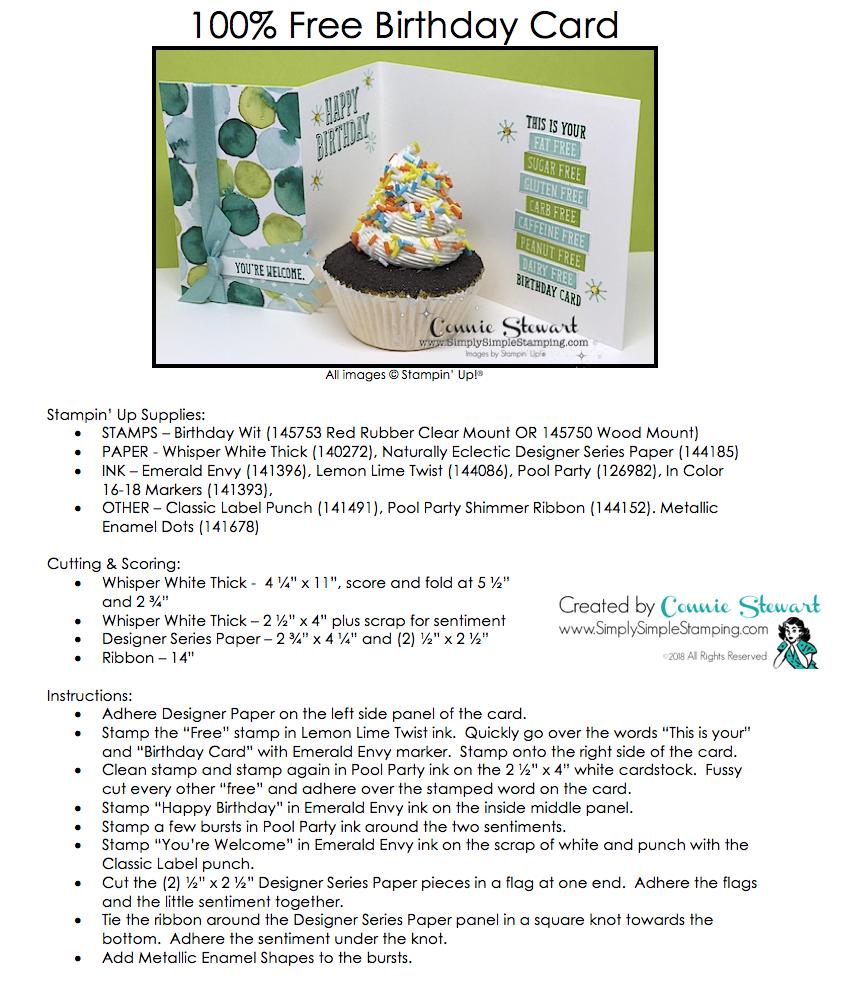 Make It Monday 100 Free Birthday Card Free Birthday Card Free