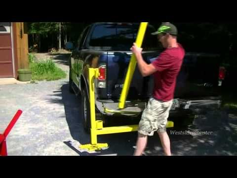 Harbor Freight Gantry Crane >> Homemade Receiver Hitch Crane - YouTube | Diy welding, Truck accesories, Homemade trailer
