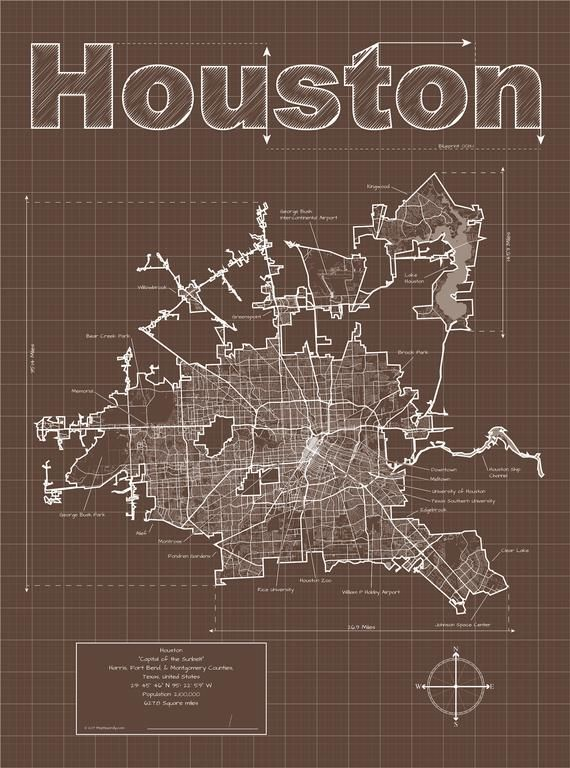 Houston Map Houston Texas Map Houston Street Map Houston Art