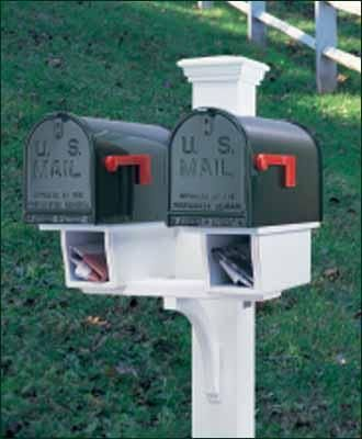 Double Twin Star Mail Post Perfect For Multifamily Units With Two Newspaper Boxes 5 1 2 Sq Post Crafted In Ce Double Mailbox Post Mailbox Posts Mailbox