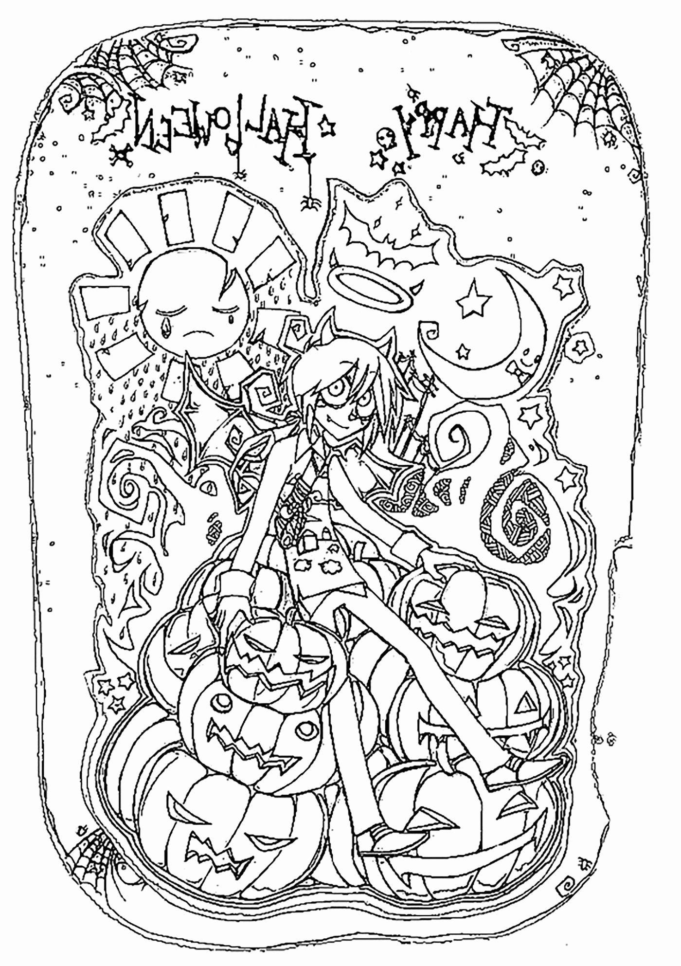 Halloween Frankenstein Coloring Pages (Dengan gambar)