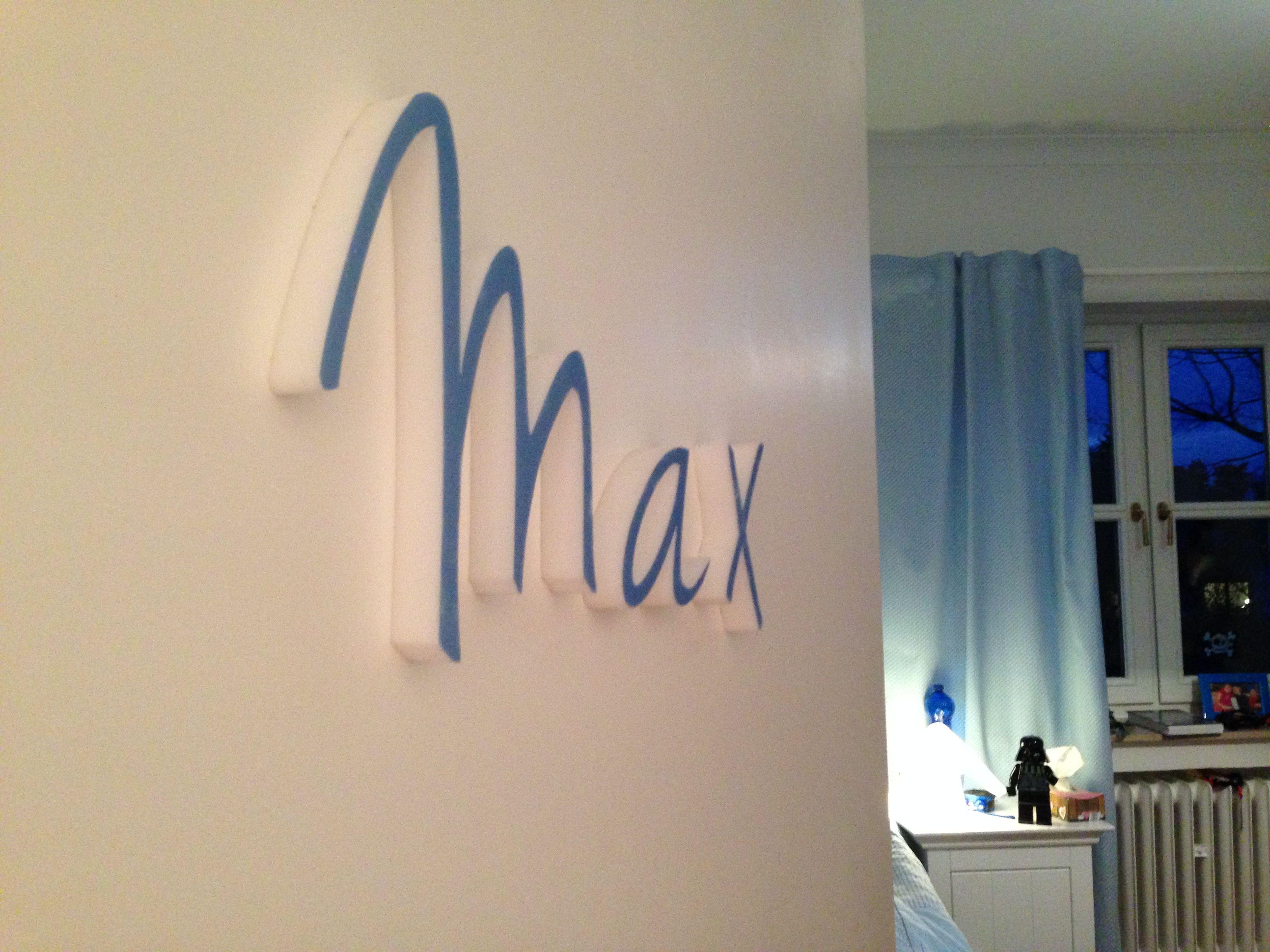 Berühmt Max - 3D Schriftzug aus Dekoschaum | abc-3D | Schriftzug GC06