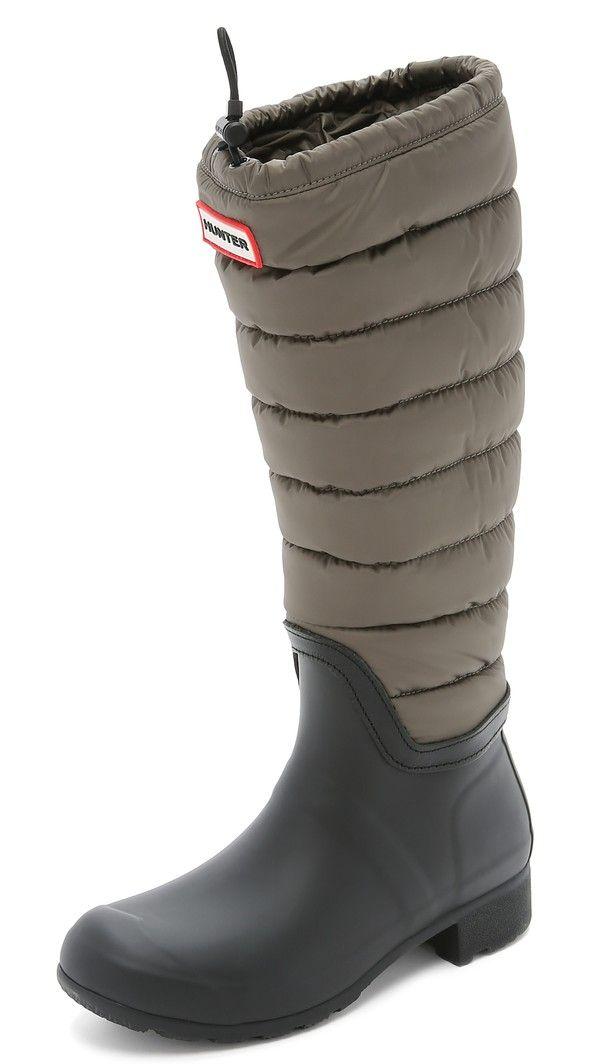 Hunter Boots Original Quilted Leg Boots - Swamp Green/Black ... : hunter boots quilted - Adamdwight.com