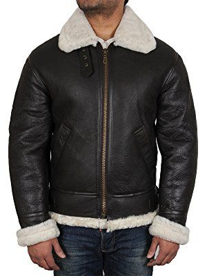 4f29727f309 Men s Aviator Cream Real Shearling Sheepskin Leather Bomber Flying Jacket