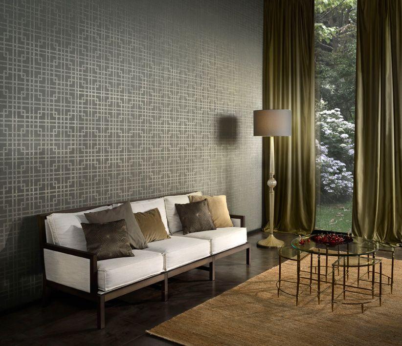 Revestimiento mural geom trico color vis n de la colecci n brocades ref br3085 hotel deco Color vison paredes