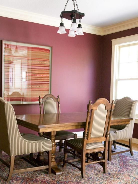 Decorating with Purple | Plum walls, Blue ceilings and Moldings