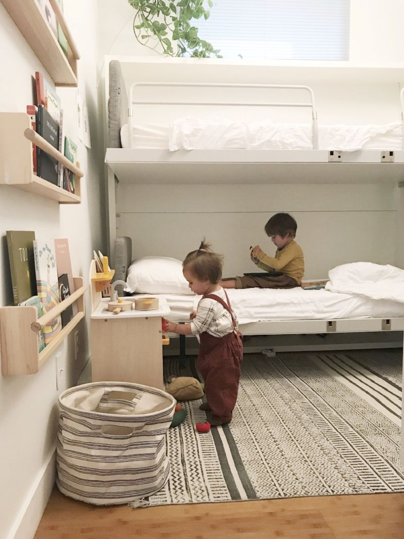 Wall Bunk Beds The First Few Months Shelves In Bedroom Kids
