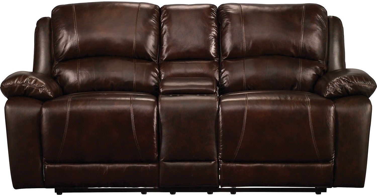 Incredible Marco Genuine Leather Power Reclining Loveseat Chocolate Gmtry Best Dining Table And Chair Ideas Images Gmtryco