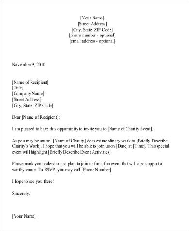 Fundraising Letter Sample Examples Word Pdf Charity Event Proposal