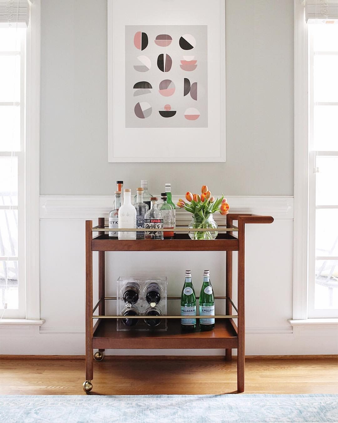 West Elm Mid Century Bar Cart for $279 vs Target Threshold Wood and ...