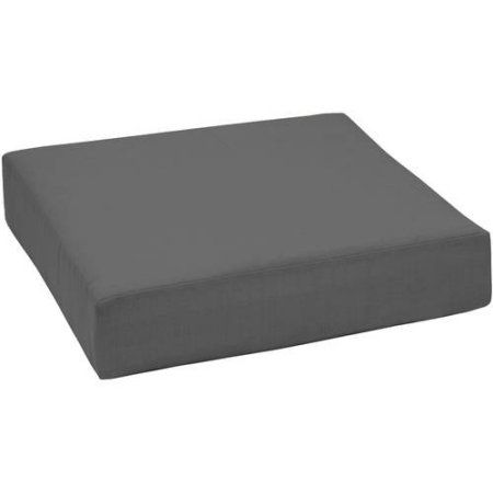 Better Homes And Gardens Outdoor Patio Deep Seat Bottom Cushion, Gray