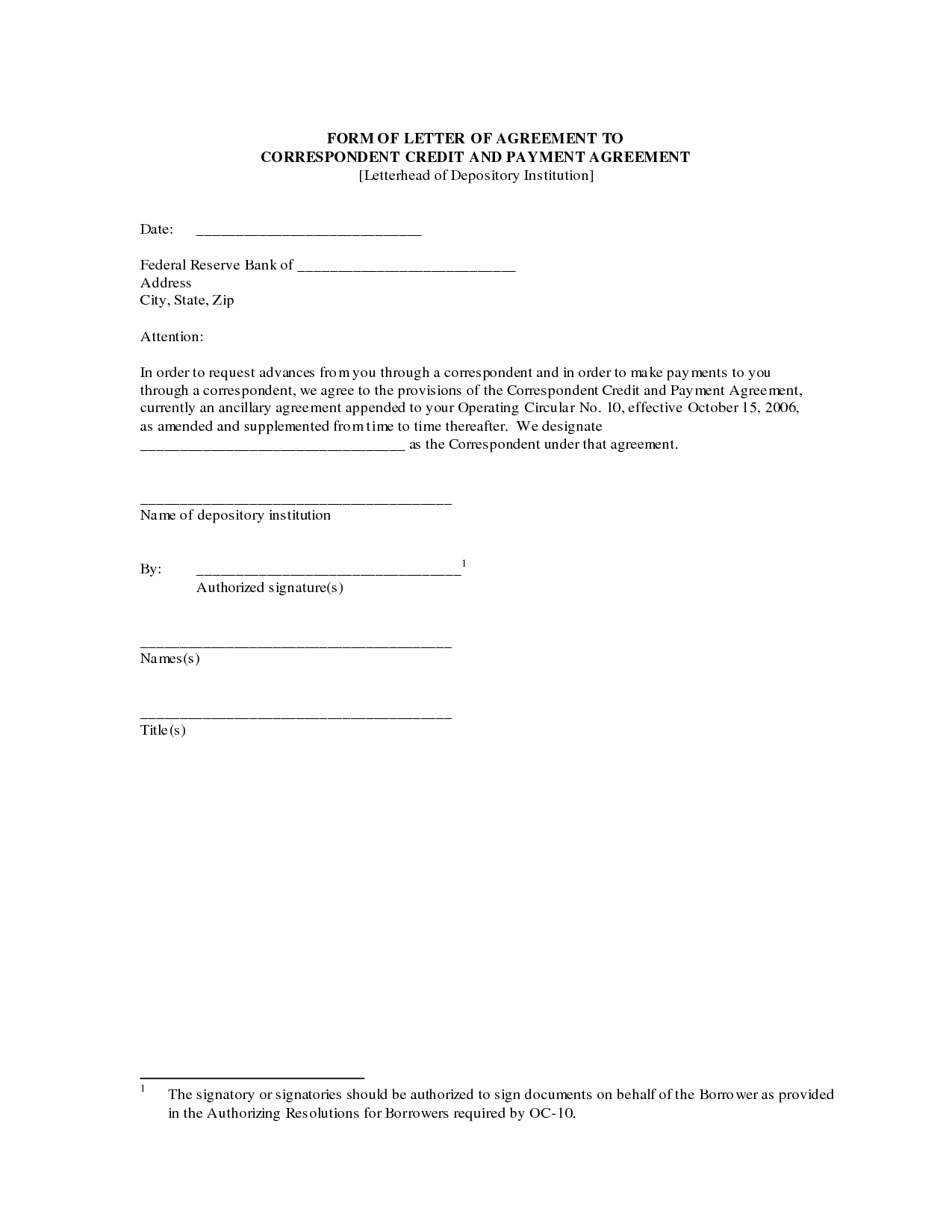 Payment Agreement Letter Sample Contract Template Form With  Home