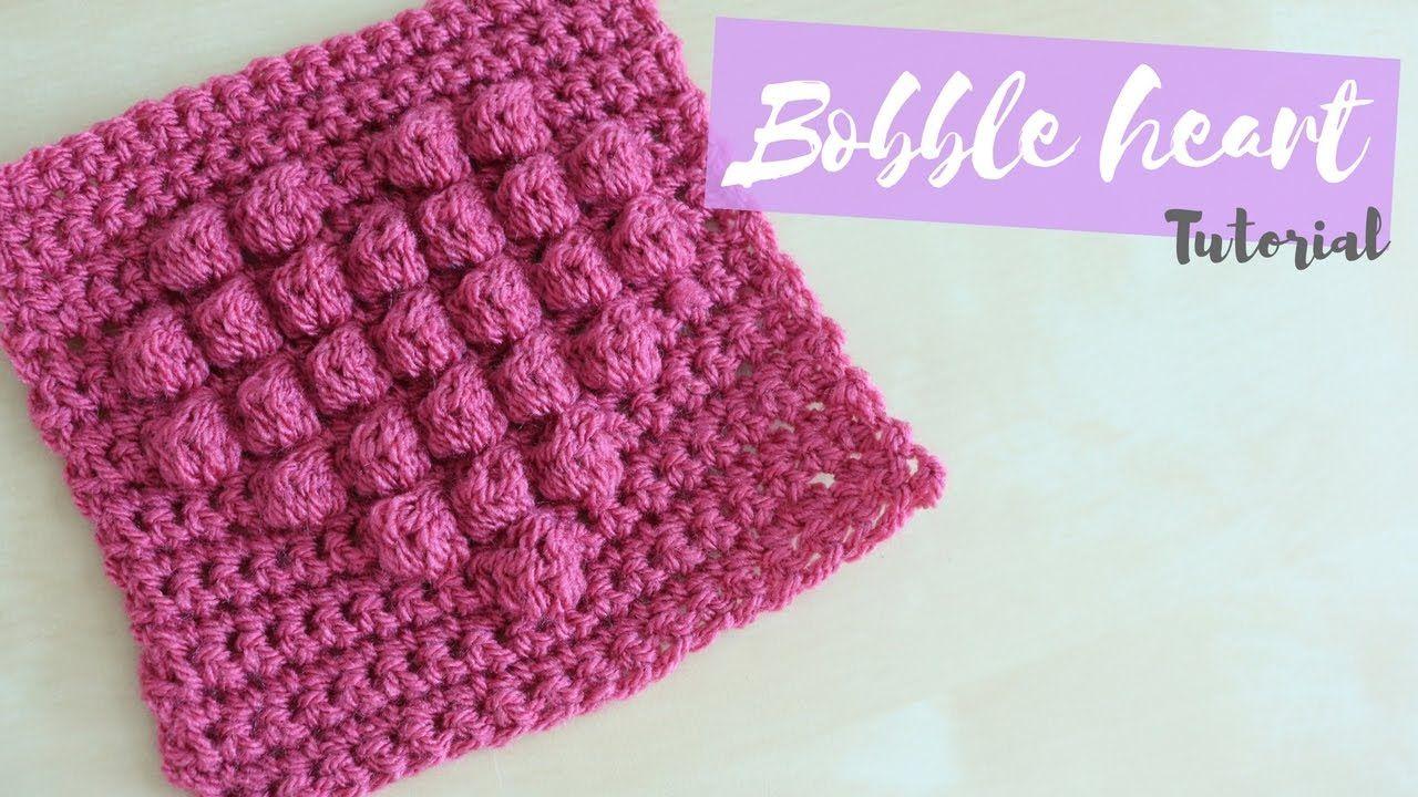 CROCHET: Bobble Heart Square | Bella Coco | Knit & Crochet ...