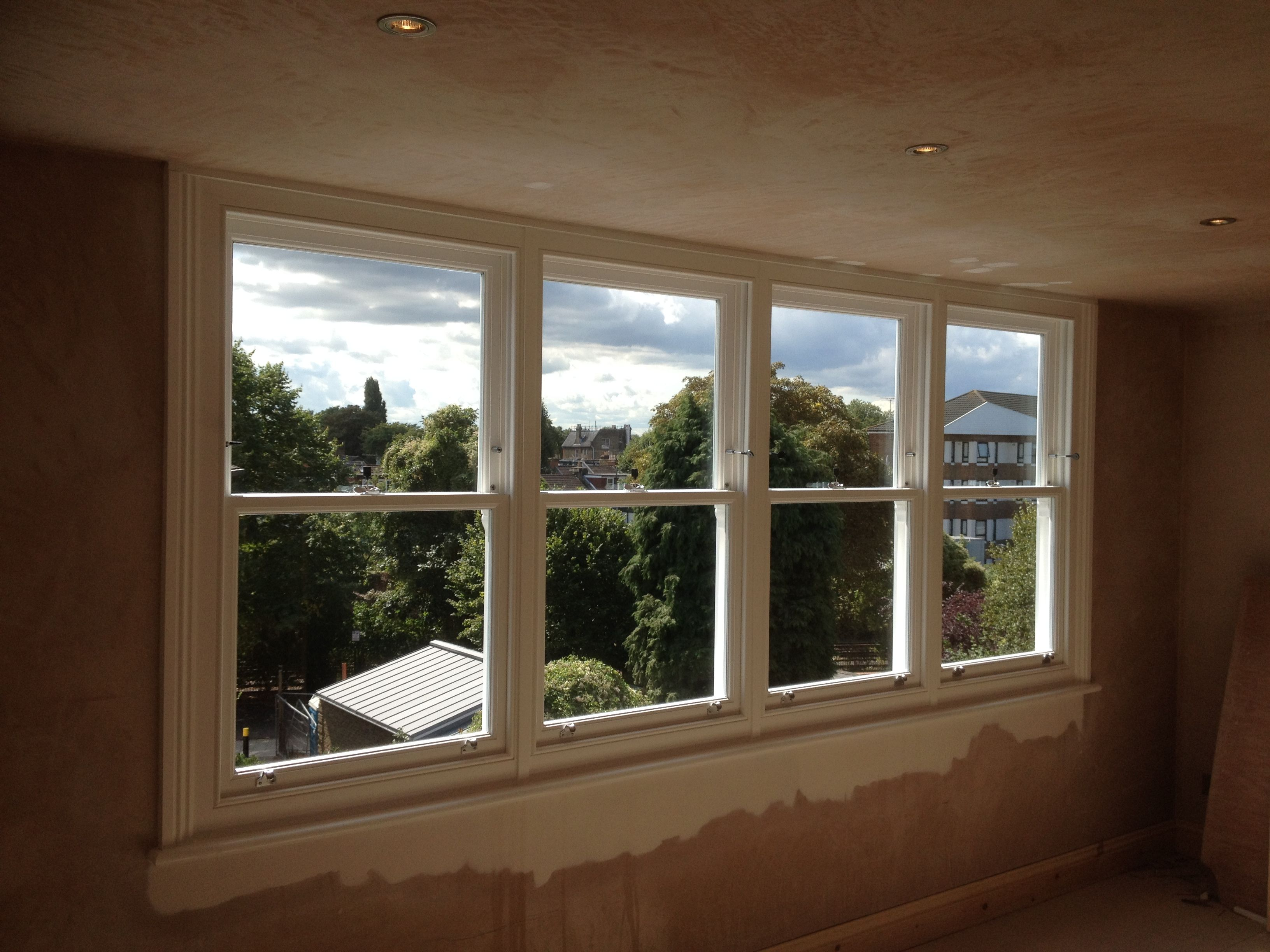 French casement windows photos houzz - A Bank Of Four Upvc Sash Windows To A Loft Conversion