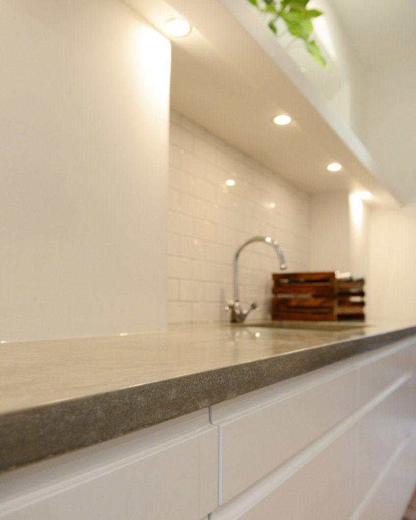 Polished Concrete Kitchen Worktop, Countertop London