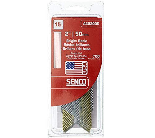 Senco A302000 15 Gauge By 2 Inch Bright Basic Finish Nail Air Tools Moldings Trim Tools For Sale