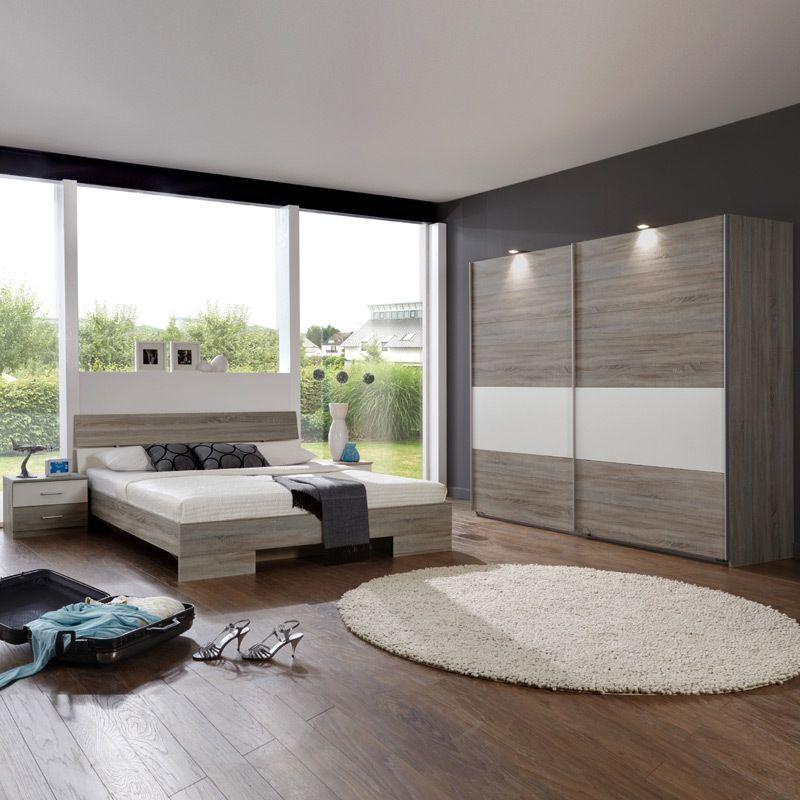 Schlafzimmerset 4-tlg »LIANA« Montana Eiche - alpinweiß Jetzt - design schlafzimmer komplett