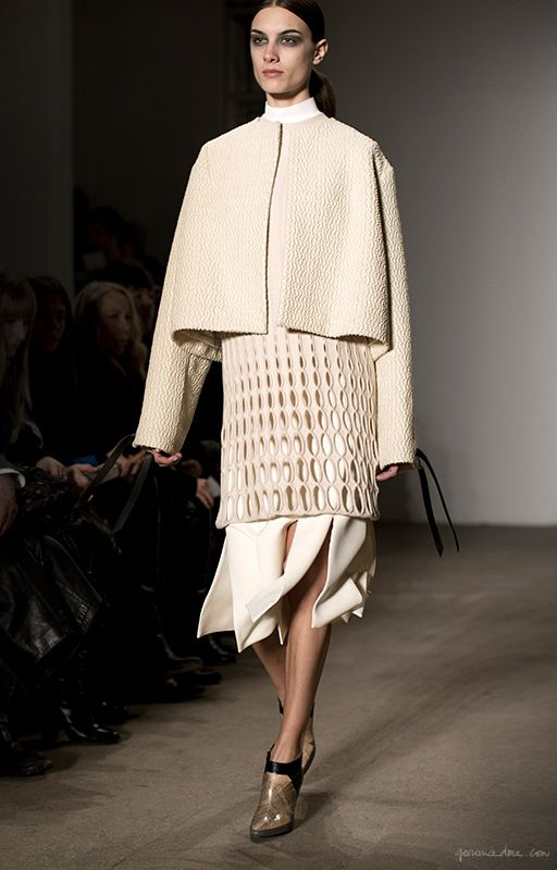 Derek Lam F W 2014 Skirt Jacket Layering Garance Dore Deconstruction Fashion Fashion Minimal Fashion