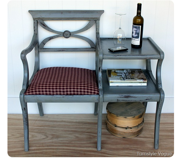 Great Design Could You Make This With A Chair And Side Table Attached Together