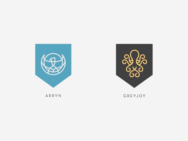 Sigils of the Houses of Westeros poster by Darrin Crescenzi, via Behance