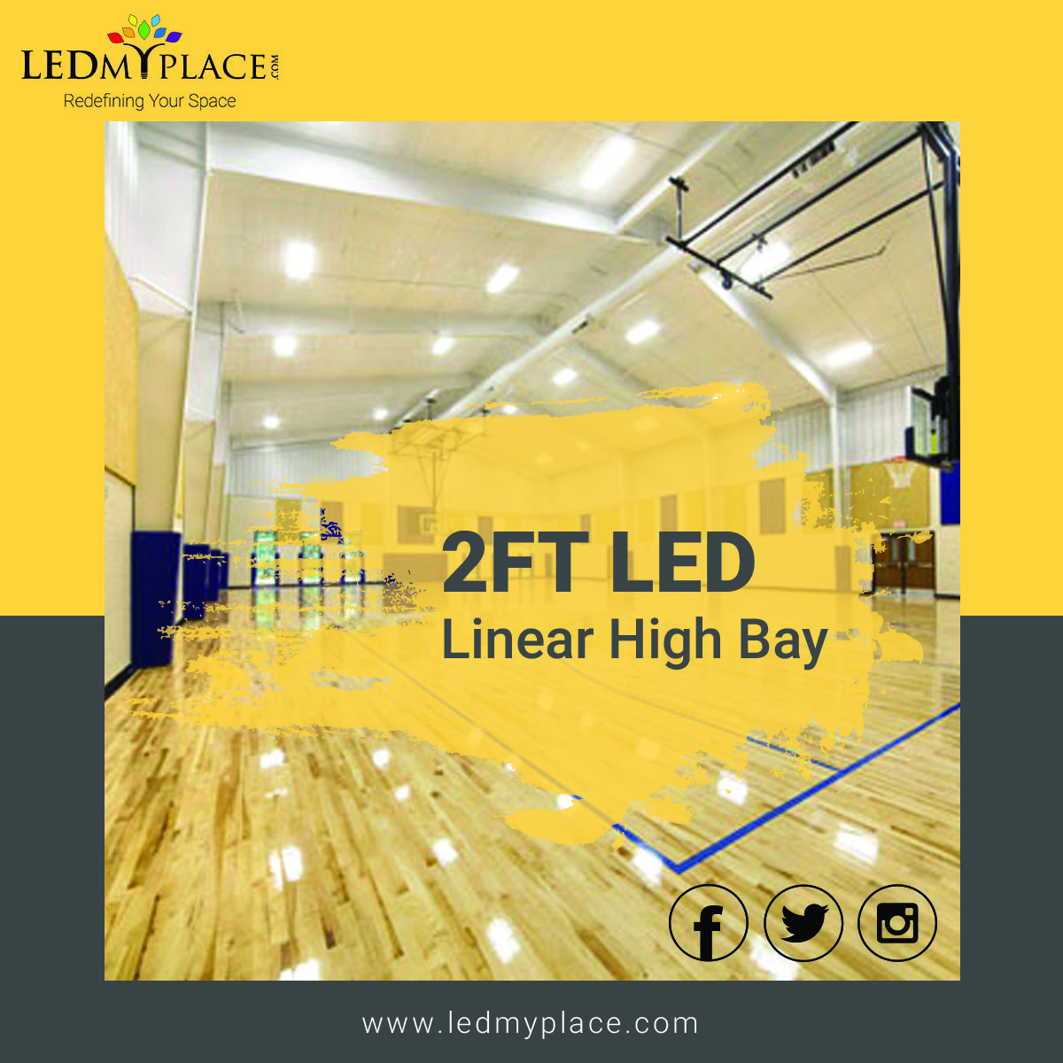 2ft Led Linear High Bay 165w 4000k Led High Bay Lighting High Bay Lights