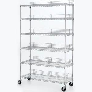 Art Supply Cart Hdx 6 Tier 47 7 In X 77 18 Wire Use Shelving Unit Eh Wshdi 001 At The Home Depot