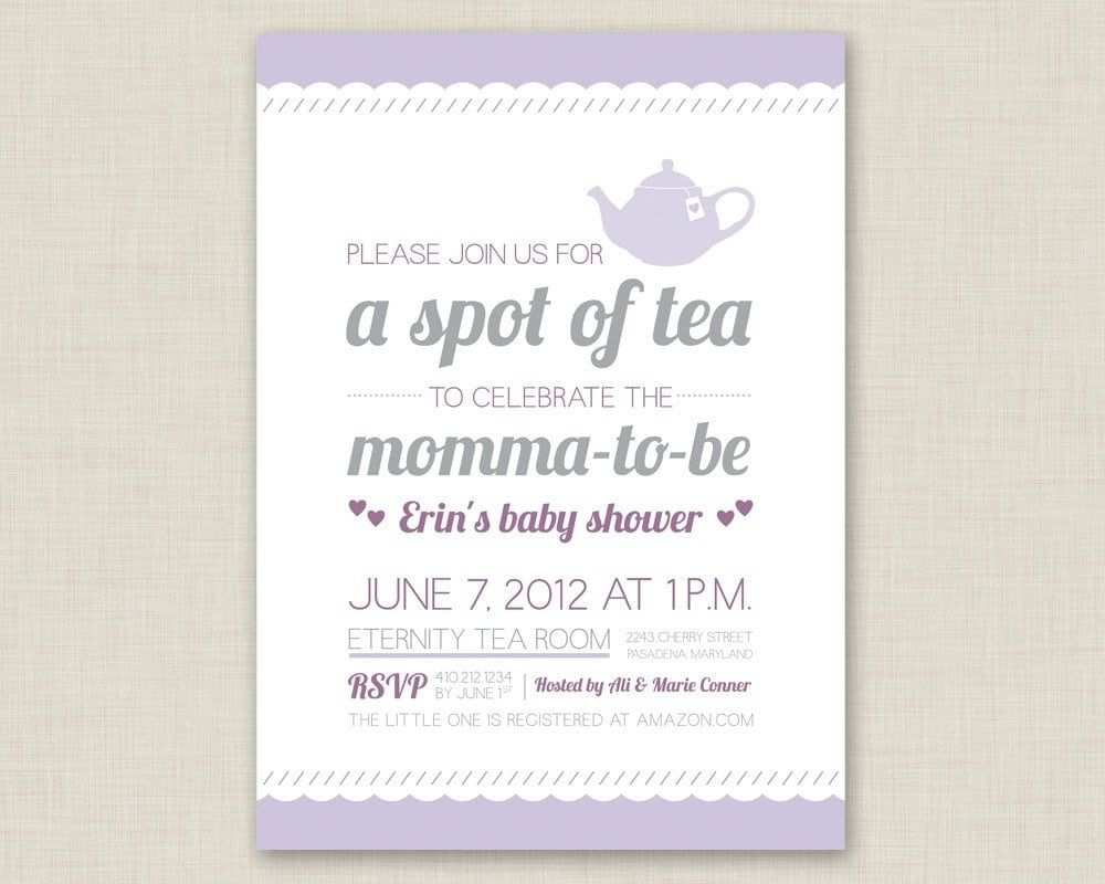 Baby Tea Party Invitations Sweet In 2019