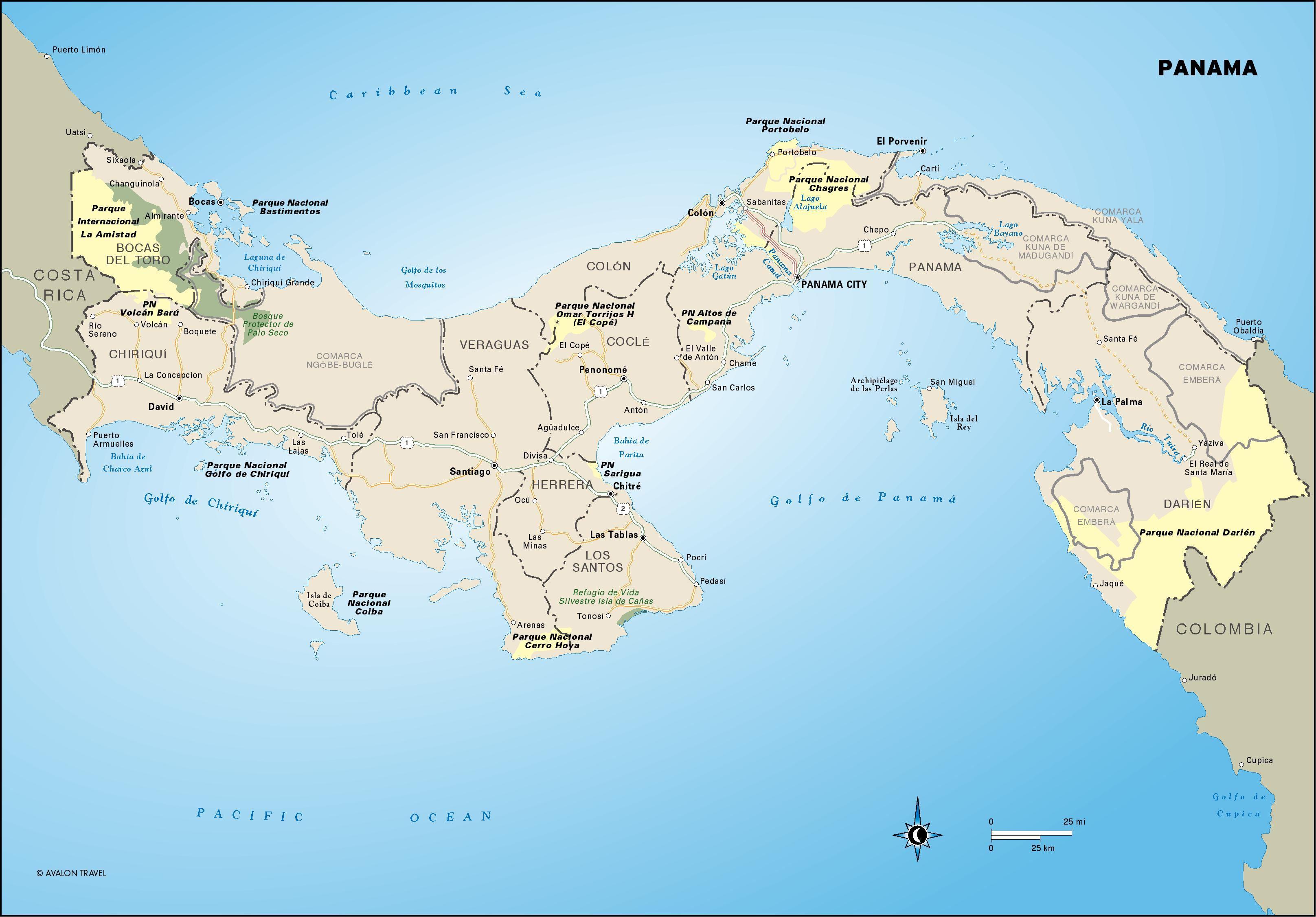 Panama Map | Panama canal cruise, Panama, Panama city panama