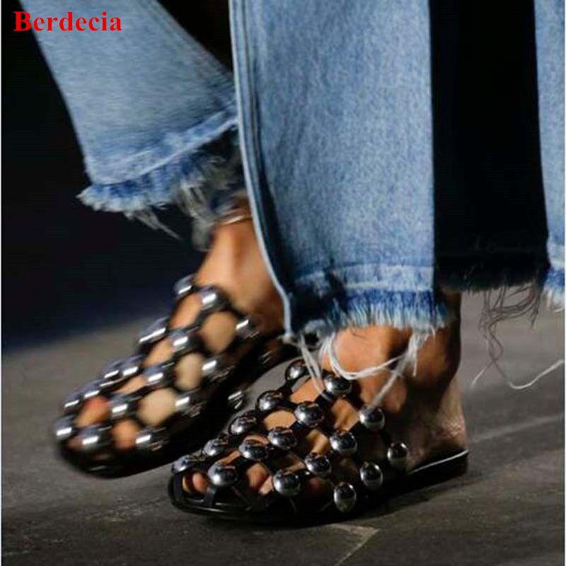 Black/Nude Amelia Beading Mules Shoes Women Luxury Slip-on Caged Flats  Silver-
