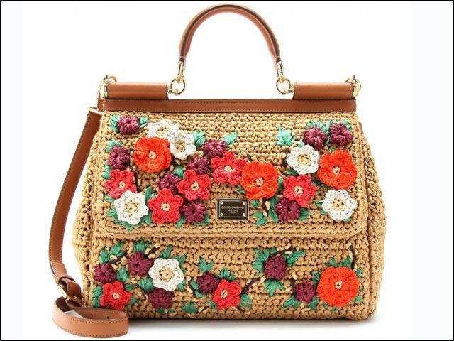 Miss Sicily Dolce Gabbana Borse Gioiello Straw Handbags
