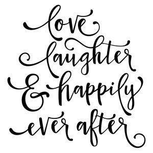 Download Love laughter happily ever after phrase | Silhouette ...