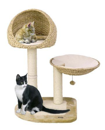 Karlie Scratching Tree With Banana Leaf Beds And Sisal Posts. 100cm Heigh: Amazon.co.uk: Pet Supplies