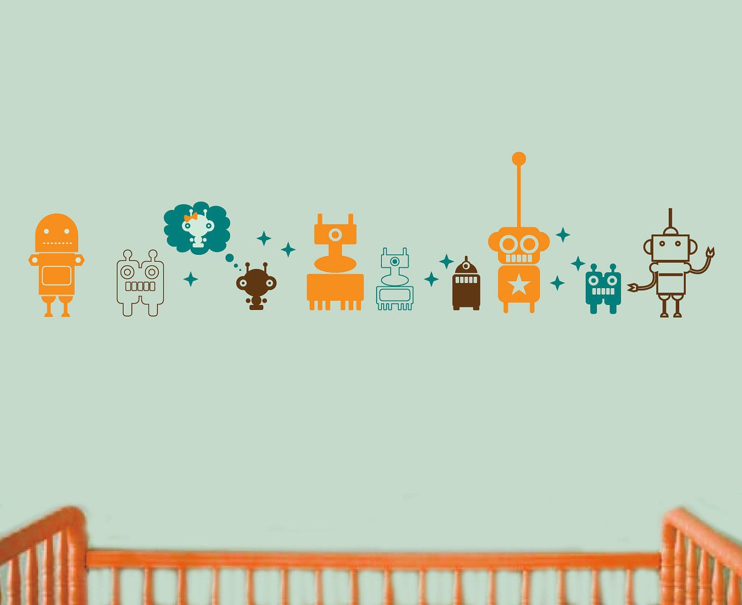 Robot wall decal set i ordered this for the nursery in different