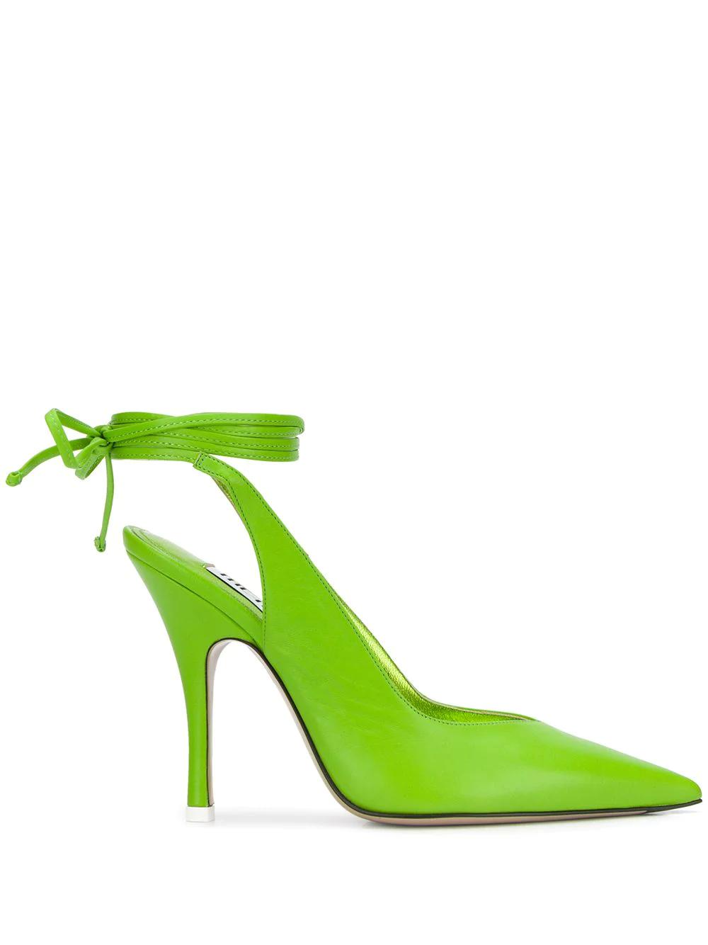 The Attico Pointed High Heel Pumps Farfetch Pumps Heels Green High Heels Heels