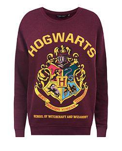 Burgundy (Red) Burgundy Harry Potter Hogwarts Print Jumper   321526067   New Look
