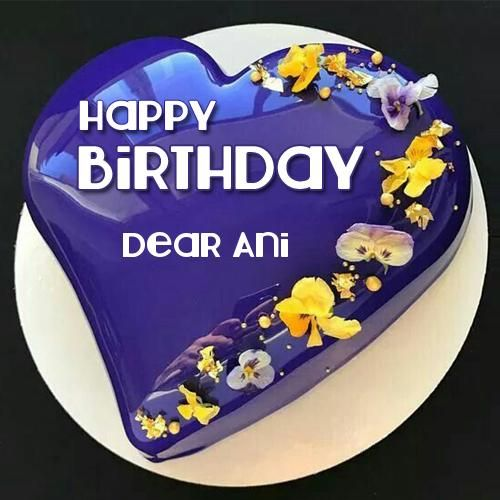 Outstanding Mirror Glaze Shiny Blue Heart Birthday Cake With Name With Images Funny Birthday Cards Online Overcheapnameinfo