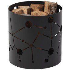 Rangement pour bois acier noir ATELIER DIXNEUF Spektra, H.40 cm