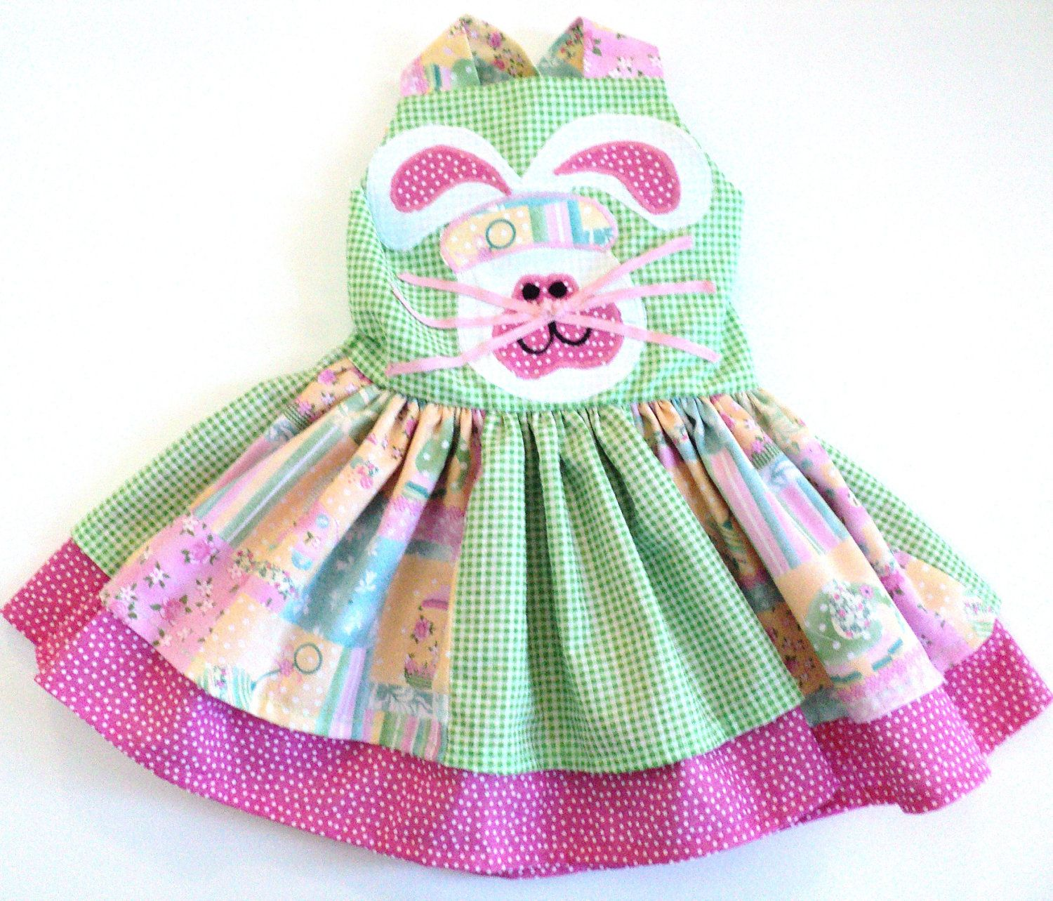Baby Girl Easter Dress Spring Bunny Double by Janslittlehearts
