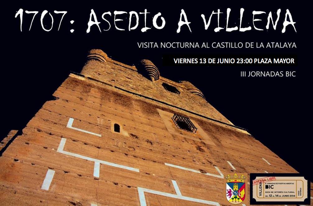 El próximo viernes 13 Junio se realizará una visita nocturna al Castillo de la Atalaya dentro de las jornadas BIC, con temática sobre la Guerra de Sucesión... y contaremos con luna llena http://www.turismovillena.com/noticia.asp?idnoticia=141235  --> Reservas llamando al 647 311 567 o enviando mail cascohistorico@villena.es  #villena #TurismoVillena #costablanca @Costa Blanca Turismo @Comunitat Valenciana