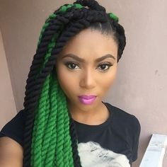 Yarn Twists Green With Envy Yarn Braids In 2019