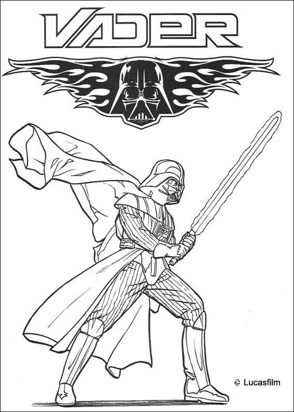 darth vader coloring pages for kids | Darth Vader symbol coloring page. More Star Wars coloring ...