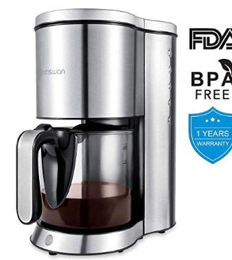 10 Cup Coffee Maker The Coffee Maker Is Compact While Also Brewing A Full Pot It Can Thermal Coffee Maker Stainless Steel Coffee Maker Coffee Maker Machine