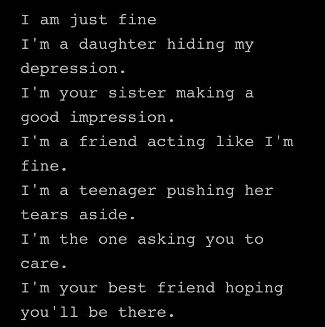 Emo Poems: Pin By BOOTIBUTTER On I'm Fine?