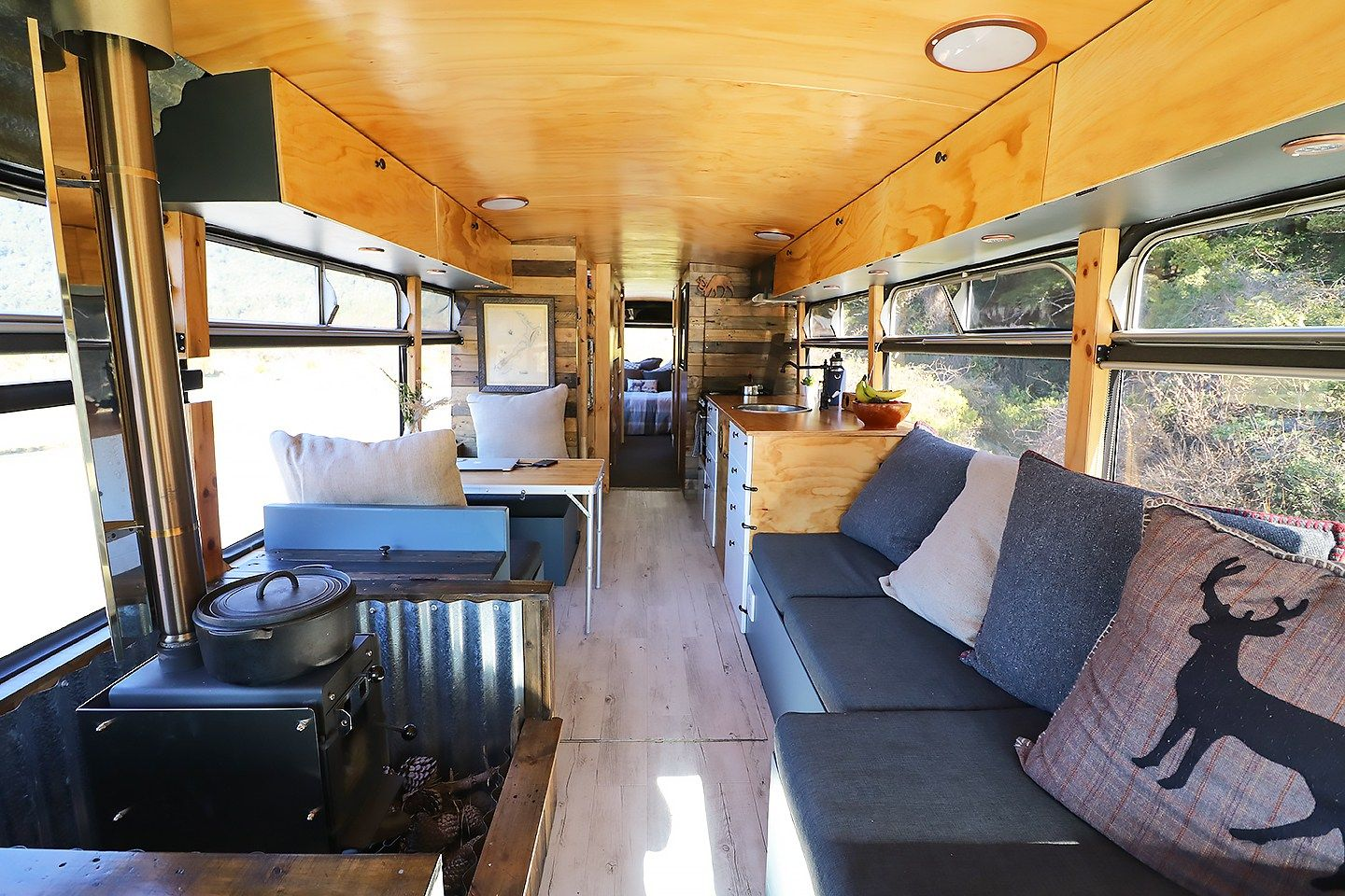 Family Quits The 9 To 5 To Live In An Off Grid Bus