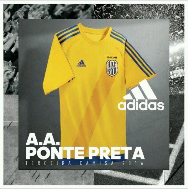 f7ad5095b8 Camisa amarela da Ponte Preta