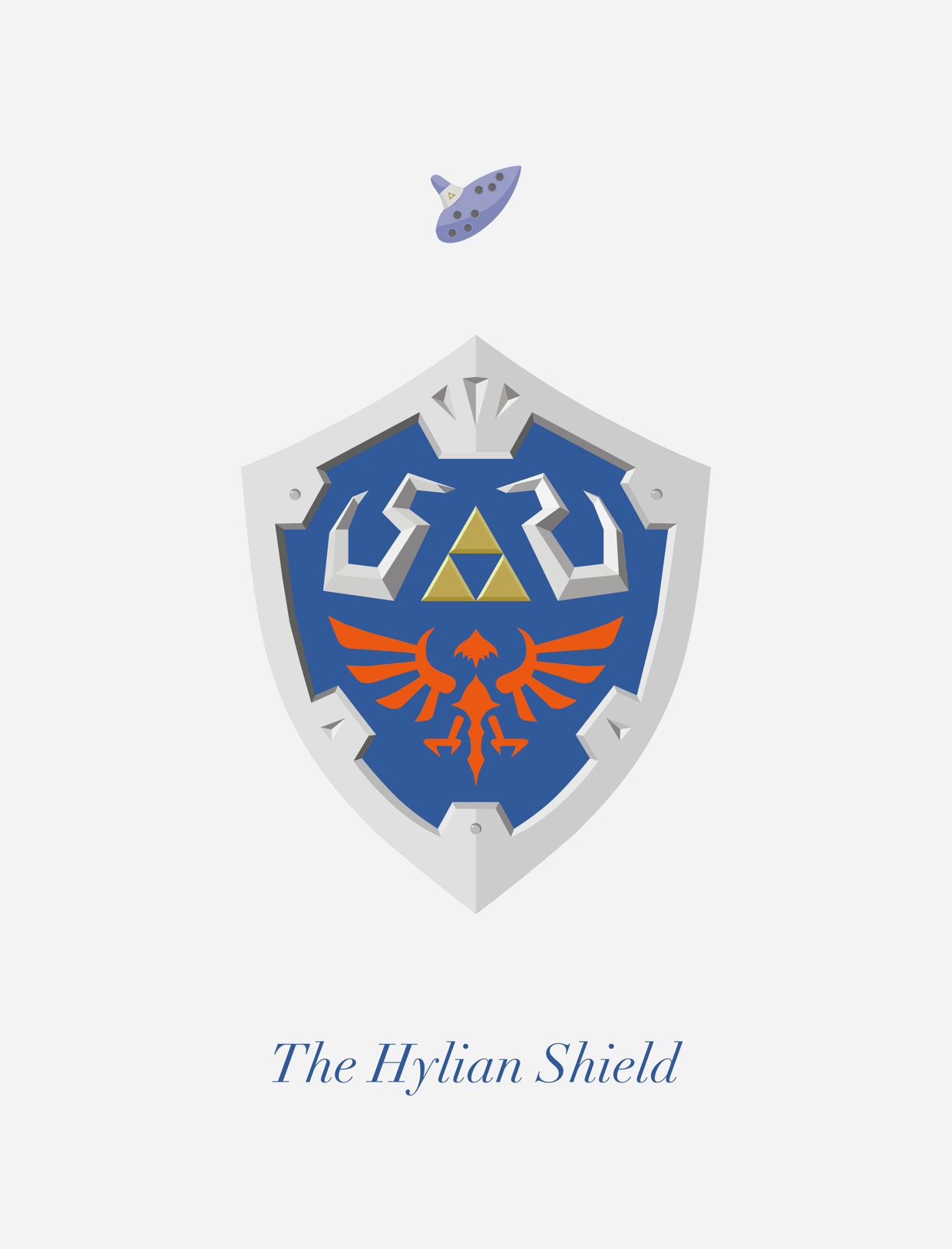 The Hylian Shield Ocarina Of Time Created By George Oliver Legend Of Zelda Legend Ocarina Of Time